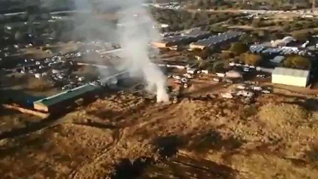 Снимок места катастрофы с вертолёта