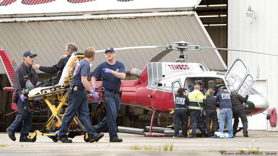Спасённые в авиакатастрофе пассажиры