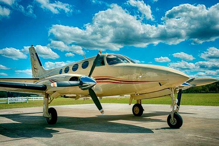 Самолёт Cessna С340, разбившийся в Палм-Бич
