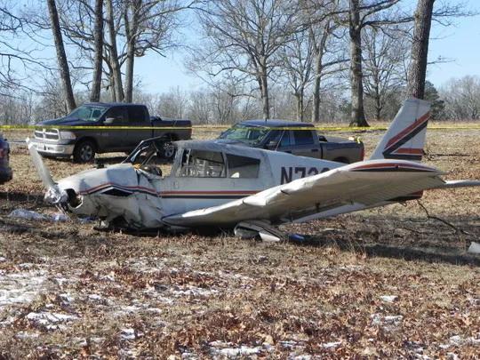 На месте авиакатастрофы