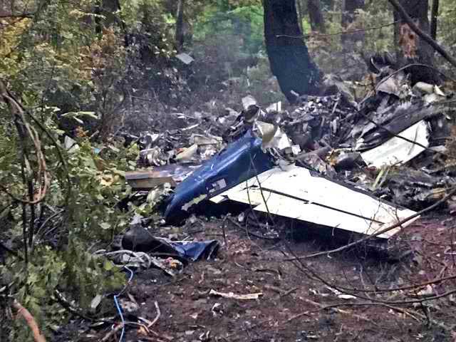Обломки самолёта на месте авиакатастрофы