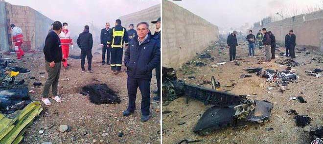 Фото с места авиакатастрофы в Иране